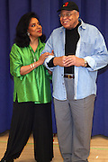 """Phylicia Rashad and James Earl Jones, at """" Cat on a Hot Tin Roof """" Press conference announcing limited broadway run,  at Broad Hurst Theater on January 8, 2008 in New York City"""