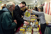 © Licensed to London News Pictures. 23/03/2013. Exeter, UK. Delegates buy gifts. The UK Independence Party (UKIP) 2013 Spring Conference is held at the Great Hall, Exeter University today, Saturday 23rd March 2013. Support for the party is rising after success in the recent Eastleigh by-election, where UKIP came second behind the Liberal Democrats. Photo credit : Stephen Simpson/LNP