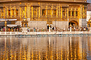 """The Golden Temple (also known as Harmandir Sahib, lit. """"abode of God"""" or Darbār Sahib, meaning """"exalted court"""") is a gurdwara (place of assembly and worship for Sikhs.) located in the city of Amritsar, Punjab, India. It is the preeminent spiritual site of Sikhism."""