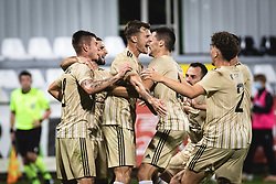 Players of Mura celebrating during football match between NS Mura and AGF Aarhus in Second Round of UEFA Europa League Qualifications, on September 17, 2020 in Stadium Fazanerija, Murska Sobota, Slovenia. Photo by Blaz Weindorfer / Sportida
