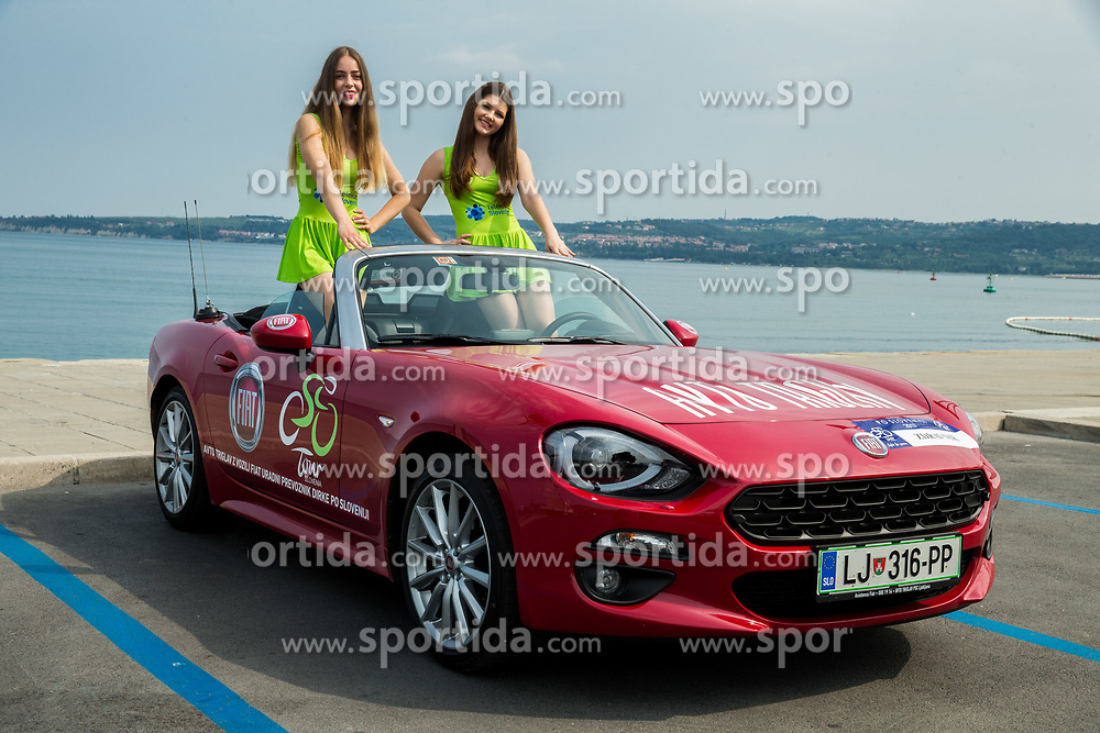 Hostesses posing in a cabrio car prior to the Stage 1 of 24th Tour of Slovenia 2017 / Tour de Slovenie from Koper to Kocevje (159,4 km) cycling race on June 15, 2017 in Slovenia. Photo by Vid Ponikvar / Sportida
