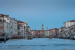 General views of the Grand Canal in Venice. From a series of travel photos in Italy. Photo date: Tuesday, February 12, 2019. Photo credit should read: Richard Gray/EMPICS