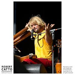 Xavier Rudd performs at WOMAD music festival in New Plymouth, Taranaki New Zealand.