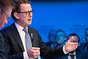Lord Greg Barker of Battle, Executive Chairman of the Board of Directors, En+ Group, Russian Federation, speaking in the Stakeholder dialogue; Shaping the Future of Energy and Materials session at the World Economic Forum Annual Meeting 2020 in Davos-Klosters, Switzerland, 22 January. Congress Centre - Aspen 1 Room. Copyright by World Economic Forum/ Greg Beadle