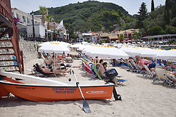 Rescue boat, Parga, mainland west Greece, July 2018