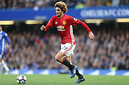 Marouane Fellaini of Manchester United in action. Premier league match, Chelsea v Manchester Utd at Stamford Bridge in London on Sunday 23rd October 2016.<br /> pic by John Patrick Fletcher, Andrew Orchard sports photography.