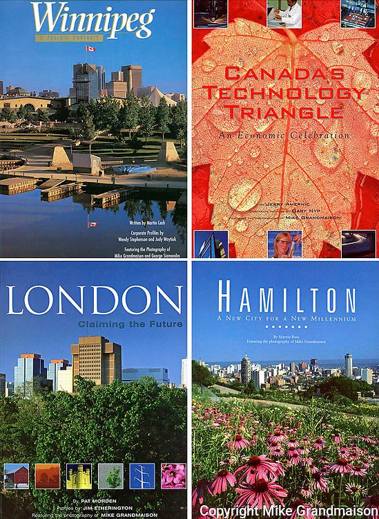 PRODUCT: Book<br /> TITLE: WInnipeg, London, Hamilton, Canada's Technology Triangle<br /> CLIENT: Community Communications