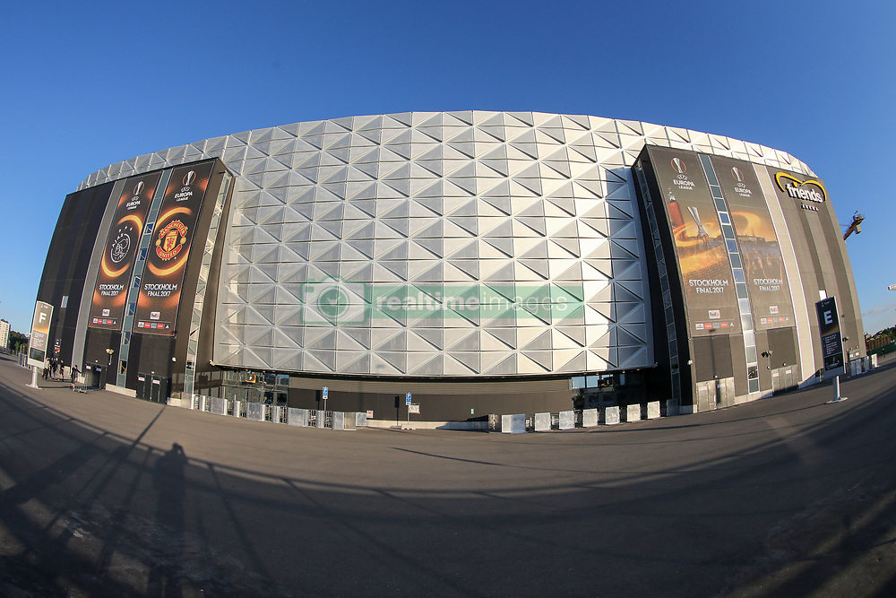 May 23, 2017 - Stockholm, Sweden - A general view outside of the stadium ahead of the UEFA Europa League Final between Ajax and Manchester United at Friends Arena on May 23, 2017 in Stockholm, Sweden. (Credit Image: © Foto Olimpik/NurPhoto via ZUMA Press)