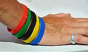 Shunyi, CHINA.   Leaning hand, at the 2008 Olympic Regatta, Shunyi Rowing Course. Fri 15.08.2008 [Mandatory Credit: Peter SPURRIER, Intersport Images] 2008,Beijing,Olympic,Regatta, Games, , Rowing Course, Shun Yi Water Complex, Beijing, CHINA,