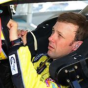 Racecar driver Matt Kenseth is seen during the  56th Annual NASCAR Daytona 500 practice session at Daytona International Speedway on Wednesday, February 19, 2014 in Daytona Beach, Florida.  (AP Photo/Alex Menendez)