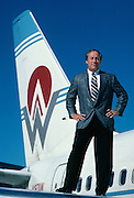 CEO and Founder of America West, Edward Beauvais. Ocotber 1989.
