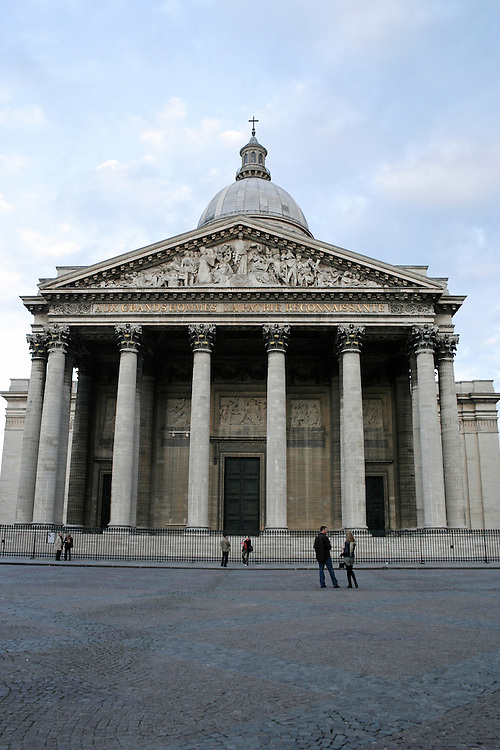 Facade of a mausoleum, Pantheon, Paris, France