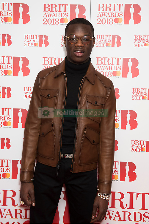 EDITORIAL USE ONLY XXXX J-Hus attending the Brit Awards 2018 Nominations event held at ITV Studios on Southbank, London. Photo credit should read: David Jensen/EMPICS Entertainment