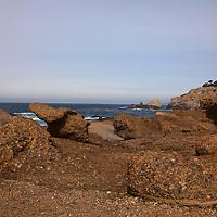 USA, California, Point Lobos. Rocks at Point Lobos State Reserve.