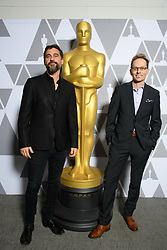 """Bryn Mooser and Skye Fitzgerald of the Oscar® nominated documentary short subject """"Lifeboat"""" prior to the Academy of Motion Picture Arts and Sciences' """"Oscar Week: Documentaries"""" event on Tuesday, February 19, 2019 at the Samuel Goldwyn Theater in Beverly Hills. The Oscars® will be presented on Sunday, February 24, 2019, at the Dolby Theatre® in Hollywood, CA and televised live by the ABC Television Network."""