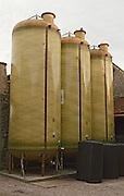 Domaine des Vieux Foudres, Languedoc. Fibreglass vats. France. Europe.