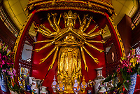 Statue of the Avalikitesvara Goddess, Yuantong Temple, the largest Buddhist temple in Kunming, Yunnan Province, China. It was first built in the late 8th and early 9th century, the time of the Nanzhao Kingdom in the Tang dynasty.