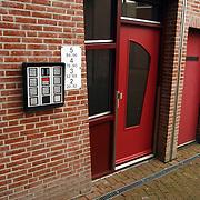Nieuwe woning Nance Coolen Schoolstraat 34 Bussum, entree, deur