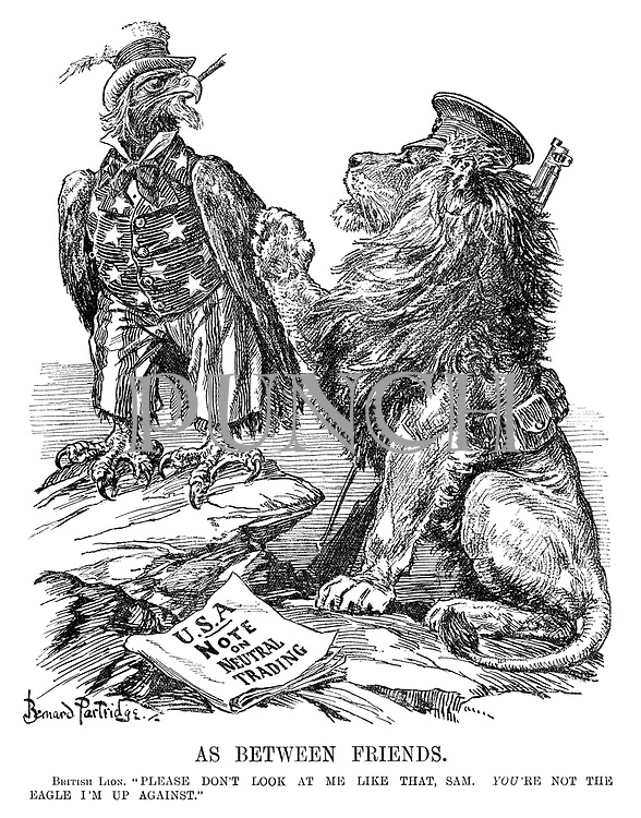 """As between friends. British Lion. """"Please don't look at me like that, Sam. You're not the eagle I'm up against."""""""
