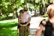 Promenade en famille dans la foret, France. // Family walk in the forest, France.