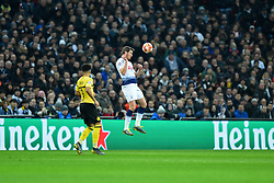 February 13, 2019 - London, England, United Kingdom - Tottenham defender Jan Vertonghen controls the defence in the air during the UEFA Champions League match between Tottenham Hotspur and Ballspielverein Borussia 09 e.V. Dortmund at Wembley Stadium, London on Wednesday 13th February 2019. (Credit: Jon Bromley | MI News & Sport Ltd) (Credit Image: © Mi News/NurPhoto via ZUMA Press)