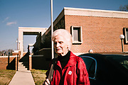 """ONEONTA, AL – DECEMBER 12, 2017: Oneonta resident Marie Owen waits for a ride after voting in Alabama's Special General Election for the United States Senate at the Blount County Human Resources Center polling station.  """"I voted for Moore, but I hope for the good. Whatever it is. I just want us to get back to like it used to be."""" CREDIT: Bob Miller for The New York Times"""