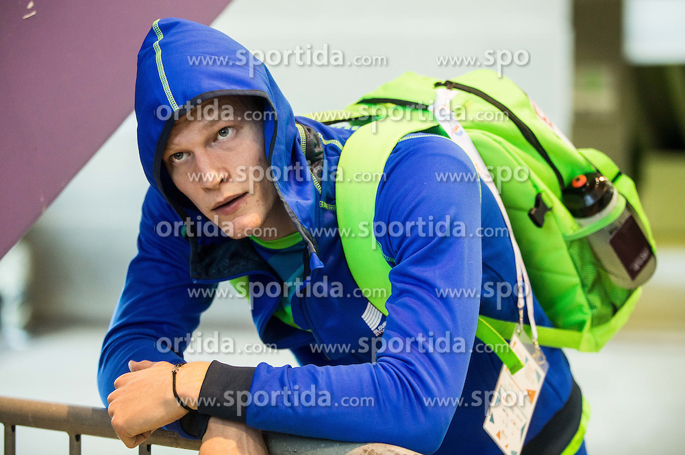 Luka Janezic of Slovenia looks dejected after he was disqualified after the Men's 400 metres heats on day one of the 2017 European Athletics Indoor Championships at the Kombank Arena on March 3, 2017 in Belgrade, Serbia. Photo by Vid Ponikvar / Sportida