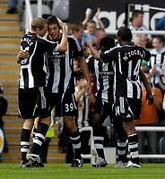 Photo: Jed Wee/Sportsbeat Images.<br /> Newcastle United v Juventus. Pre Season Friendly. 29/07/2007.<br /> <br /> Newcastle celebrate with Andy Carroll (39) after he scores to put them 2-0 up.