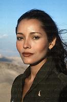 Nicaraguan American actress Barbara Carrera seen in Israel during the filming of 'The Masada'