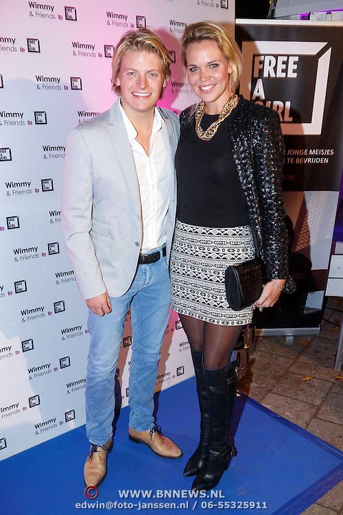 NLD/Laren/20151101 - 10de Free a Girl gala 2015, Thomas Berge en partner Myrthe Mylius