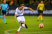 Tottenham Hotspur forward Harry Kane (10) scores a goal 0-1 during the Champions League round of 16, leg 2 of 2 match between Borussia Dortmund and Tottenham Hotspur at Signal Iduna Park, Dortmund, Germany on 5 March 2019.