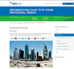 CPA Canada; Skyline of Dubai