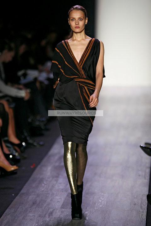 Anna Jagodzinska wearing the BCBG Max Azria Fall 2009 Collection