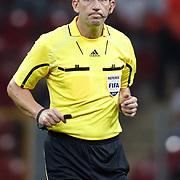 Referee's Lee PROBERT during their a international friendly soccer match Turkey betwen Estonia at TT Arena Istanbul August 10, 2011. Photo by TURKPIX
