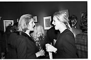 MRS MICHAEL HESELTINE; ALEXANDRA HESELTINE, Private view of watercolours, Colnaghis's. London. 29 April 1986,<br /> <br /> SUPPLIED FOR ONE-TIME USE ONLY> DO NOT ARCHIVE. © Copyright Photograph by Dafydd Jones 248 Clapham Rd.  London SW90PZ Tel 020 7820 0771 www.dafjones.com
