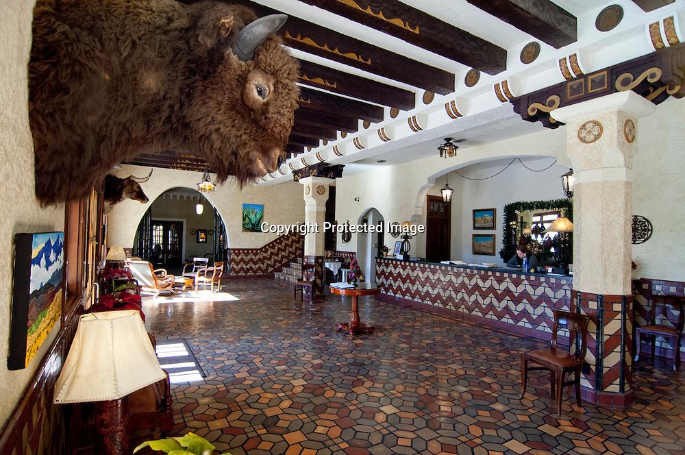 Paisano Hotel lobby in Marfa, Texas.