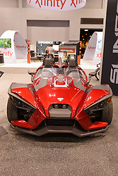 09 February 2017: Polaris 2017 Slingshot SL<br /> <br /> First staged in 1901, the Chicago Auto Show is the largest auto show in North America and has been held more times than any other auto exposition on the continent.  It has been  presented by the Chicago Automobile Trade Association (CATA) since 1935.  It is held at McCormick Place, Chicago Illinois<br /> #CAS17
