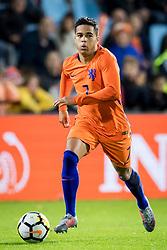 Justin Kluivert of Jong Oranje during the EURO U21 2017 qualifying match between Netherlands U21 and Latvia U21 at the Vijverberg stadium on October 06, 2017 in Doetinchem, The Netherlands