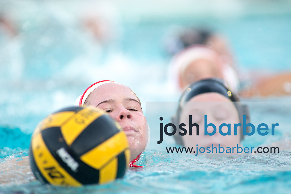 Troy's Elle Jack (7) during nonleague girls water polo at Canyon High School on Friday, January 8, 2016 in Anaheim, California. Troy won 14-6. (Photo/Josh Barber)
