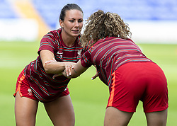 BIRKENHEAD, ENGLAND - Sunday, August 29, 2021: Liverpool's Leighanne Robe during the pre-match warm-up before the FA Women's Championship game between Liverpool FC Women and London City Lionesses FC at Prenton Park. London City won 1-0. (Pic by Paul Currie/Propaganda)
