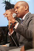 May 19, 2012 -New York, NY-United States: Kevin Powell attends the Question Bridge: Black Male Blue Print Round Table moderated by Dr. Khalil Gibran Muhammad and hosted by Kevin Powell and held at the Iris and B.Gerald Cantor Auditorium in the Brooklyn Museum on May 19, 2012 in Brooklyn, New York. Question Bridge: Black Males is a transmedia art project that seeks to represent and redefine Black male identity in America. Question Bridge: Black Males was created by Chris Johnson and Hank Willis Thomas in collaboration with Bayeté Ross Smith and Kamal Sinclair. The Executive Producers are Delroy Lindo, Deborah Willis and Jesse Williams. (Photo by Terrence Jennings)