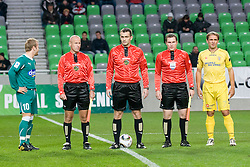 Referees during football match between NK Olimpija and NK Domzale in second leg of quarter-final of Hervis Cup, on October 27, 2010 in Stadium Stozice, Ljubljana, Slovenia. Photo by Matic Klansek Velej / Sportida