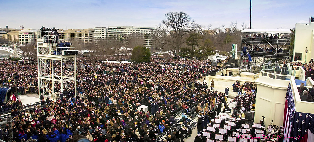WASHINGTON, D.C. - George H. Bush is sworn in as the 43 President of the United States. Inauguration ceremonies for the second term of President George W. Bush at the U.S. Capitol, along the National Mall and along Pennsylvania Avenue on January 19, 2005 and January 20, 2005. Photography ©DONNA FISHER/The Morning Call