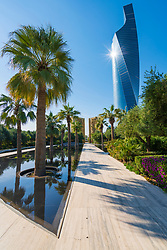 Constitution Monument approach at Al Shaheed Park in Kuwait, Middle East