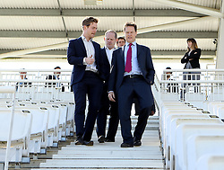 Liberal Democrat leader Nick Clegg at The Ageas Bowl ahead of the General Election - Photo mandatory by-line: Robbie Stephenson/JMP - Mobile: 07966 386802 - 27/04/2015 - SPORT - Cricket - Southampton - The Ageas Bowl - Hampshire v Nottinghamshire - County Championship Division One