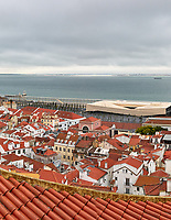 Morning Panorama Over Lisbon. Composite of 10 images taken with a Leica CL camera and 23 mm f/2 lens (ISO 800, 23 mm, f/11, 1/125 sec). Raw images processed with Capture One Pro and the composite generated with AutoPano Giga.