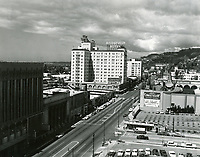 1957 Looking west on Hollywood Blvd. towards Orchid St.
