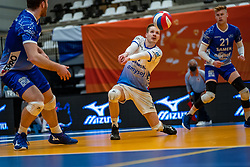 Steven Ottevanger of Lycurgus in action during the cup final between Amysoft Lycurgus vs. Draisma Dynamo on April 18, 2021 in sports hall Alfa College in Groningen