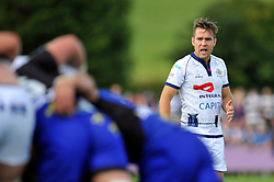 Adrian Jarvis (Bristol) watches a scrum develop - Photo mandatory by-line: Patrick Khachfe/JMP - Mobile: 07966 386802 17/08/2014 - SPORT - RUGBY UNION - Bristol - Clifton Rugby Club - Bristol Rugby v Newport Gwent Dragons - Pre-Season Friendly