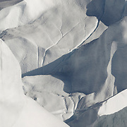 Chunks of the Ilulissat Kangerlua Glacier, the world's most prolific glacier outside of Antarctica, clutter the Ilulissat Icefjord near the town of Ilulissat, Greenland.